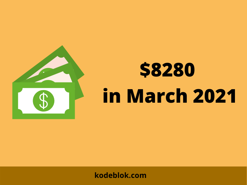 I Made $8280 in March 2021